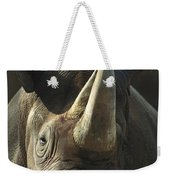Black Rhinoceros Portrait Weekender Tote Bag