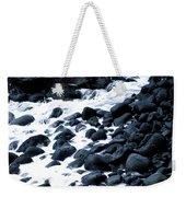 Black Rocks Along The Puna Coast Weekender Tote Bag