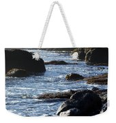 Black Rocks And Sea  Weekender Tote Bag