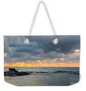 Black Sea Sunrise Before Storm Weekender Tote Bag