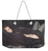 Black Silk Weekender Tote Bag