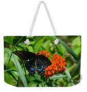 Black Swallow Tail On Beautiful Orange Wildlflower Weekender Tote Bag