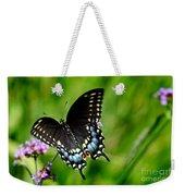 Black Swallowtail Butterfly In Garden Weekender Tote Bag