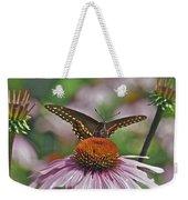 Black Swallowtail On Cone Flower Weekender Tote Bag