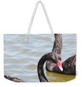 Black Swan Pair Weekender Tote Bag