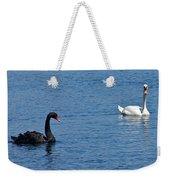 Black Swan White Swan Weekender Tote Bag