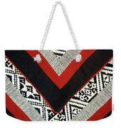 Black Thai Fabric 01 Weekender Tote Bag