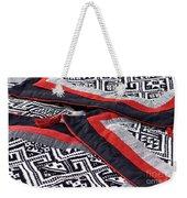 Black Thai Fabric 04 Weekender Tote Bag