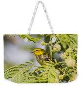 Black-throated Gren Warbler Weekender Tote Bag