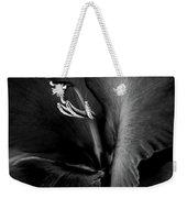 Black Velvet Gladiolia Flower Weekender Tote Bag by Jennie Marie Schell