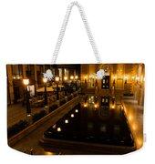 Black Water Golden Lights Weekender Tote Bag