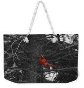 Black White And Red Weekender Tote Bag