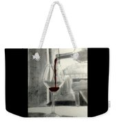 Black White And Red Wine Weekender Tote Bag