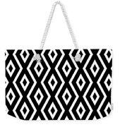 Black And White Pattern Weekender Tote Bag