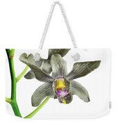 Black Yellow And Purple Orchid Weekender Tote Bag