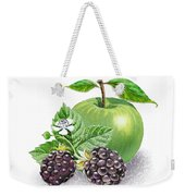 Blackberries And Green Apple Weekender Tote Bag