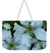 Blackberry Blossoms Weekender Tote Bag