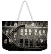 Blackened Fire Escape Weekender Tote Bag