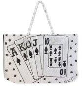 Blackjack Black And White Weekender Tote Bag