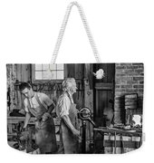 Blacksmith And Apprentice 2 Bw Weekender Tote Bag