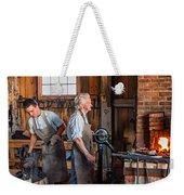 Blacksmith And Apprentice 2 Weekender Tote Bag by Steve Harrington