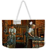 Blacksmith And Apprentice Impasto Weekender Tote Bag
