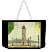 Blackwell Island Lighthouse Ny Chart Map Art Weekender Tote Bag