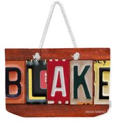 Blake License Plate Name Sign Fun Kid Room Decor Weekender Tote Bag