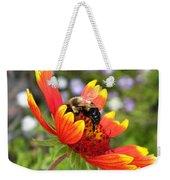Blanket Flower And Bumblebee Weekender Tote Bag