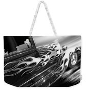 Blazing A Trail - Ford Model A 1929 In Black And White Weekender Tote Bag