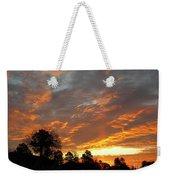 Blazing Christmas Sunset Weekender Tote Bag