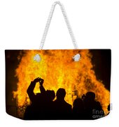 Blazing Fire Weekender Tote Bag