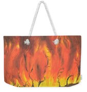 Blazing Fire Weekender Tote Bag