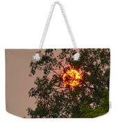 Blazing Sun Hiding Behind A Tree Weekender Tote Bag