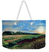 Blazing Sun On Farmland Weekender Tote Bag