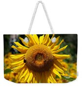 Blazing Yellow Sunflower Weekender Tote Bag