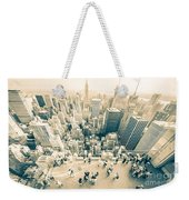 Bleached Manhattan Weekender Tote Bag