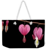 Bleeding Heart Flowers Showing Blooming Stages  Weekender Tote Bag