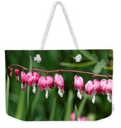 Bleeding Hearts All In A Row Weekender Tote Bag