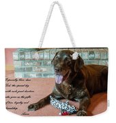 Bless This Dog Weekender Tote Bag