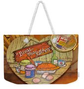 Bless This Kitchen Weekender Tote Bag