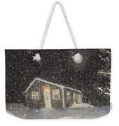 Blizzard At The Cabin Weekender Tote Bag by Barbara Griffin