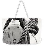 Block And Tackle Of Old Sailing Ship Weekender Tote Bag