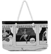 Blockhead And Swords In Black And White Weekender Tote Bag