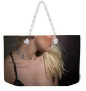 Blond Girl With Naked Breast 1287.02 Weekender Tote Bag