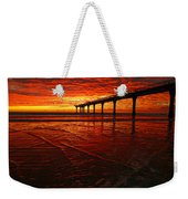 Blood Red Dawn Weekender Tote Bag