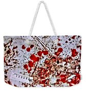 Blood Spatter Weekender Tote Bag