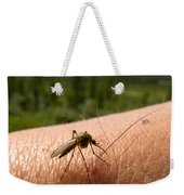 Blood Thirsty Mosquito On Human Arm Weekender Tote Bag