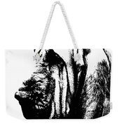 Bloodhound - It's Black And White - By Sharon Cummings Weekender Tote Bag