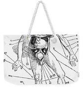 Bloodletting Chart, 1517 Weekender Tote Bag